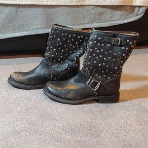 Frye veronica studded boots RARE